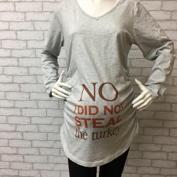 96cc7a52 Cafepress Tops | Nwt Funny Thanksgiving Day Maternity Tshirtl | Poshmark